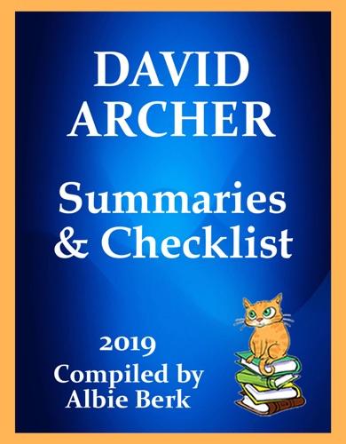 Albie Berk - David Archer: Series Reading Order - with Summaries & Checklist - Updated 2019
