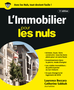 L'Immobilier pour les Nuls, 5e éd. La couverture du livre martien