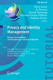 Privacy And Identity Management Fairness Accountability And Transparency In The Age Of Big Data