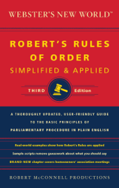 Webster's New World: Robert's Rules of Order