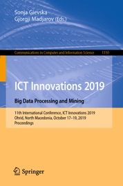Ict Innovations 2019 Big Data Processing And Mining