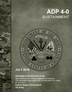 Army Doctrine Publication ADP 4-0 Sustainment July 2019 Book Cover