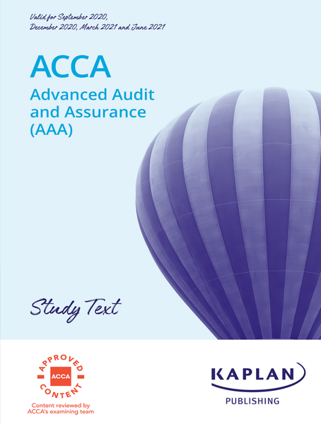 ACCA - Advanced Audit and Assurance (AAA – INT/UK)