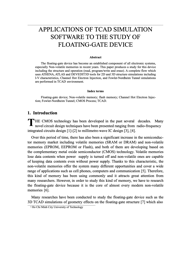 APPLICATIONS OF TCAD SIMULATION SOFTWARE TO THE STUDY OF FLOATING-GATE DEVICE