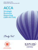 ACCA - Strategic Business Reporting (SBR – INT/UK)