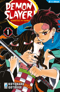 Demon Slayer - Kimetsu no yaiba 1 Copertina del libro