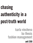 chasing authenticity in a post-truth world