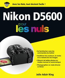 Nikon D5600 pour les Nuls grand format La couverture du livre martien
