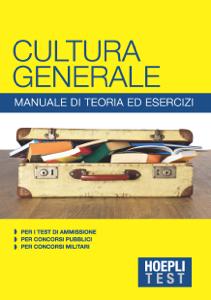Cultura generale - Manuale di teoria ed esercizi Libro Cover