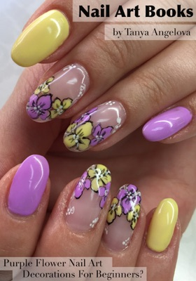 Nail Art Books: Purple Flower Nail Art Decorations For Beginners?