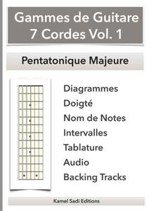 Gammes de Guitare 7 Cordes Vol. 1 La couverture du livre martien