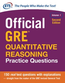 Official Gre Quantitative Reasoning Practice Questions Volume 1 Second Edition
