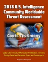2018 US Intelligence Community Worldwide Threat Assessment Coats Testimony Global Cyber Threats WMD Nuclear Proliferation Terrorism Foreign Denial And Deception Space And Counterspace