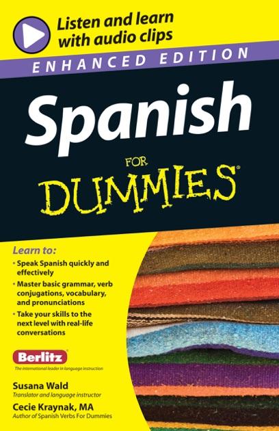 Spanish For Dummies Enhanced Edition By Susana Wald Cecie Kraynak