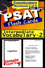 PSAT Test Prep Intermediate Vocabulary 2 Review--Exambusters Flash Cards--Workbook 2 of 6