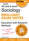 AQA Sociology Brilliant Exam Notes Education And Research Methods AS And A-level Year 1