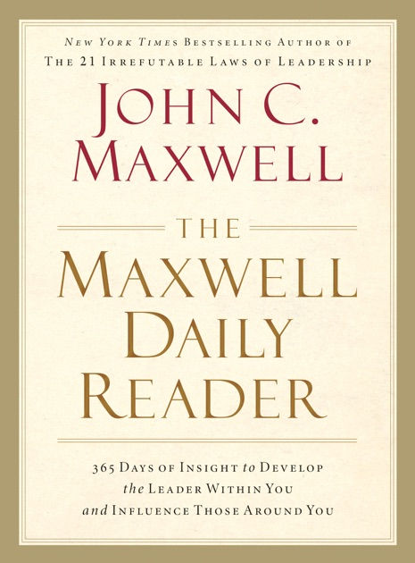 The Maxwell Daily Reader By John C Maxwell On Apple Books