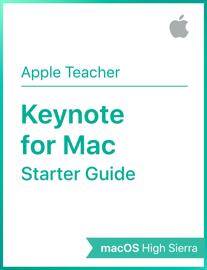 Keynote for Mac Starter Starter Guide macOS High Sierra