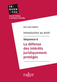 Introduction Au Droit S Quence 6 La D Fense Des Int R Ts Juridiquement Prot G S