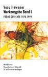 Werkausgabe Band I Frhe Gedichte 1970-1999