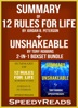 Summary of 12 Rules for Life: An Antidote to Chaos by Jordan B. Peterson + Summary of Unshakeable by Tony Robbins