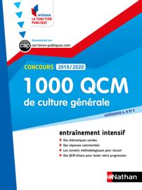 1000 QCM de culture générale - Catégorie A, B et C - Intégrer la fonction publique - 2019/2020