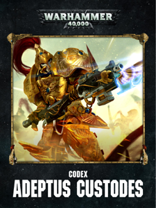 Codex: Adeptus Custodes Enhanced Edition Libro Cover