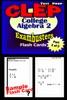 CLEP College Algebra Test Prep Review--Exambusters Algebra 2-Trig Flash Cards--Workbook 2 Of 2