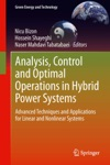 Analysis Control And Optimal Operations In Hybrid Power Systems