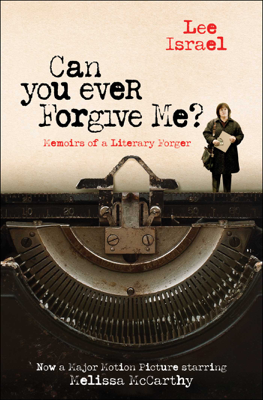 Can You Ever Forgive Me? - Lee Israel book