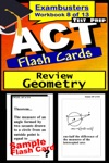 ACT Test Prep Geometry Review--Exambusters Flash Cards--Workbook 8 Of 13