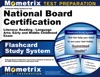 Flashcard Study System For The National Board Certification Literacy Reading - Language Arts Early And Middle Childhood Exam