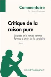 Critique De La Raison Pure De Kant L Espace Et Le Temps Comme Formes Priori De La Sensibilit Commentaire
