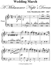 Wedding March Midsummer Night S Dream Elementary Piano Sheet Music