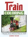 Train Coloring A Realistic Picture Reference Book For Adults