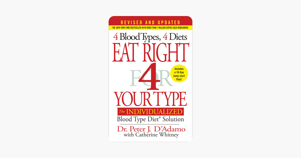 Eat Right 4 Your Type (Revised and Updated) - Dr. Peter J. D'Adamo & Catherine Whitney