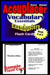 Accuplacer Test Prep Vocabulary Review--Exambusters Flash Cards--Workbook 3 Of 3
