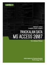 Pangkalan Data (Microsoft Access 2007) Level 1