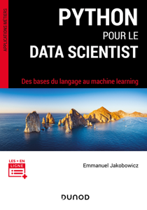 Python pour le data scientist La couverture du livre martien
