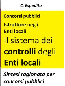 Il sistema dei controlli degli enti locali Copertina del libro