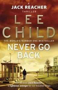 Never Go Back Door Lee Child Boekomslag