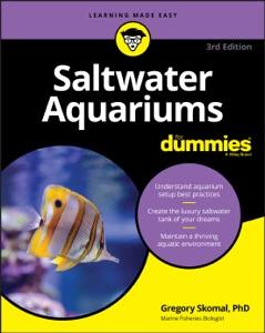 Saltwater Aquariums For Dummies Book Cover