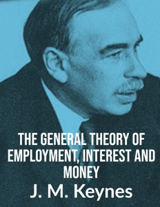 The General Theory of Employment, Interest  & Money da J.M.Keynes Copertina del libro