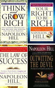 Napoleon Hill Collection 4 Books set: Think and Grow Rich,The Law of Success,Outwitting the Devil,Your Right to Be Rich.