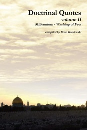 Download Doctrinal Quotes: Volume II: Millennium - Washing of Feet
