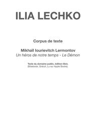 Corpus De Texte Un H Ros De Notre Temps Le D Mon Sur Le Th Me Montagnes Et Vall Es