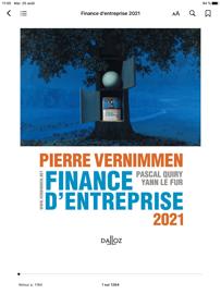 Finance d'entreprise 2021