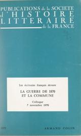 Les Crivains Fran Ais Devant La Guerre De 1870 Et Devant La Commune