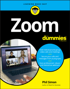 Zoom For Dummies Book Cover