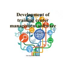 Development of training center management software